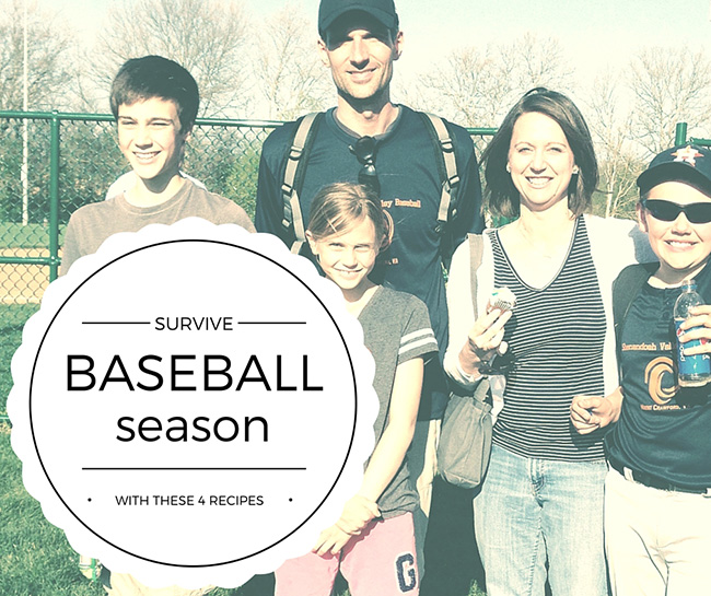 4 Recipes to Help You Survive Baseball Season