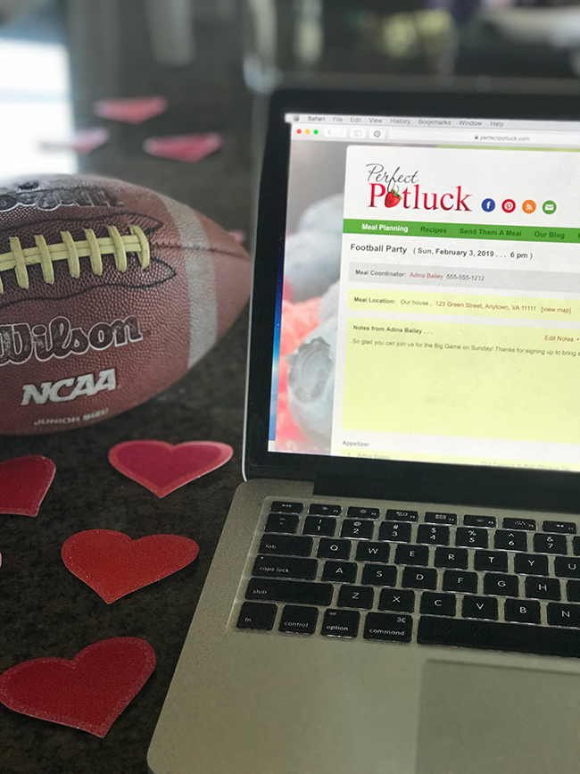 Easy Planning for Your Football and Valentine Parties