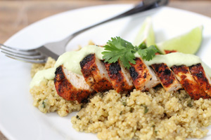 Blackened Chicken and Cilantro-Lime Quinoa